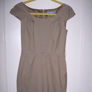 Womens Antonio Melanie Cap Sleeve Dress 2 Check
